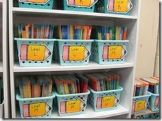 Going to take all my leveled readers and organize them!