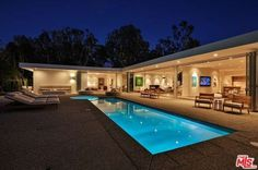 1865 Carla Rdg, Beverly Hills, CA 90210 - 4 baths Pool House Plans, Modern Villa Design, Rustic Living Room Furniture, Luxury Homes Dream Houses, Dream Homes, Dream House Exterior, House Goals, Beverly Hills, Future House