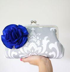 Damask Bridal and Bridesmaid Clutch Purse Custom by tbtcwedding, $75.00