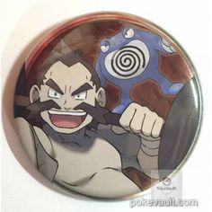 Pokemon Center 2016 Johto Badge Collection Chuck Poliwrath Large Size Tin Can Badge