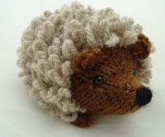 I love this knitted hedgehog!