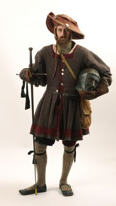 Matt Johnston of Dedham aka Matthaus Kettner, his SCA name, poses in his 1520s Bavarian dress. Johnson is a metalsmith who created his own fencing helmet made from hammered sheet steel in his work shop. Johnston has also created metal armor made in the same fashion. The Bangor Daily News