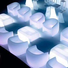 LED Illuminated Outdoor Furniture by Vondom