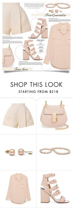 """""""true love"""" by nata91 ❤ liked on Polyvore featuring Delpozo, Chloé, Equipment and Laurence Dacade"""