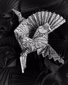 I create the pattern and color the paper myself for all my origami artworks. Here I am working on an origami rooster, paper bird. Sabbatha Rahzuardi, visual design artist from Bali, Indonesia. #origami #origamiart #origamiartwork #origamiartist #paperart #paperartwork #paperartist #paperfolding #baliart #artbali #baliartist #artistbali #sabbatha #paperbird #origamibird #origamirooster