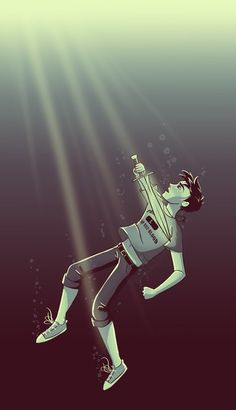 Percy jackson underwater with riptide