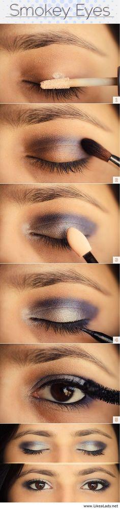 Pretty smoky eyes tutorial