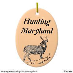 Hunting Maryland Ceramic Ornament