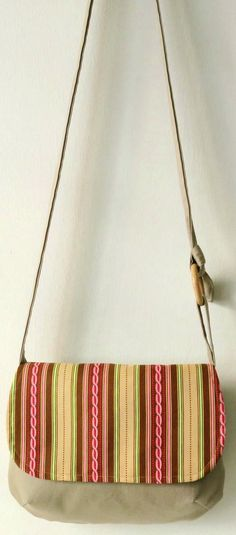 Cross body fabric bag- spring sling bag- teen hobo bag-shoulder ...
