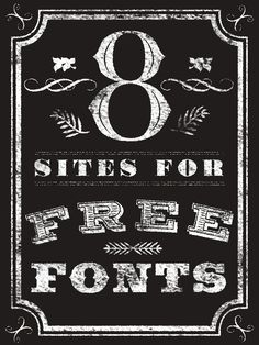 Looking for great free fonts? Check out these handy sites.
