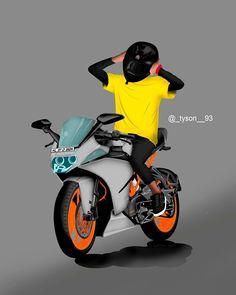 Cute Love Cartoons, Love Cartoon Couple, Joker Wallpapers, Cute Cartoon Wallpapers, Ktm Dirt Bikes, Ktm Motorcycles, Ktm Rc 200, Ktm Duke 200, Duke Bike
