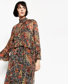 Image 2 of LONG PRINTED DRESS from Zara