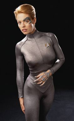 Jeri Ryan, as Seven of Nine, in STAR TREK VOYAGER - Dream Girl of a friend of mine.