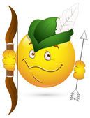Smiley Vector Illustration - Robin Hood Face — Stock Vector #21686449