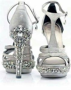 Celebrities who wear, use, or own Salvatore Ferragamo Custom Crystal Grey Sandals. Also discover the movies, TV shows, and events associated with Salvatore Ferragamo Custom Crystal Grey Sandals. Hot Shoes, Crazy Shoes, Me Too Shoes, Shoes Heels, Sexy Heels, Pretty Shoes, Beautiful Shoes, Gorgeous Heels, Bling Heels