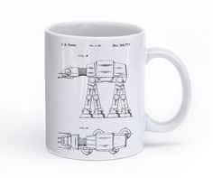 We all have this Star Wars friend that's super into the vehicles of Star Wars. This AT-AT Walker Patent Mug will definitely warm up their heart.
