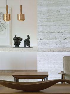 Stone walls, abstract figures, sculptural wood - what's not to love?