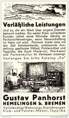 Original-Werbung/ Anzeige 1935 - PANHORST- MÖBEL / HEMELINGEN - ca. 60 x 110 mm