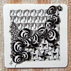 Lily's Tangles: Diva's challenge and other tiles