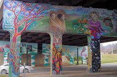 Lexington Gateway Mural Asheville