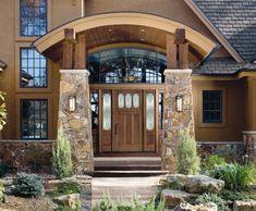 Haustüren aus Echtholz - 15 attraktive Deko-Ideen