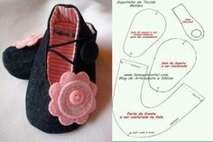 1 million+ Stunning Free Images to Use Anywhere Doll Shoe Patterns, Baby Shoes Pattern, Baby Patterns, Sewing Patterns, Baby Sewing Projects, Sewing For Kids, Sewing Crafts, Baby Crafts, Felt Crafts
