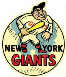 New York Giants Baseball (San Francisco) Vintage-Looking Travel Decal ...