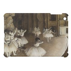 Ballet Rehearsal On Stage by Edgar Degas iPad Mini Cases