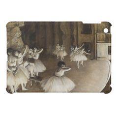 Ballet Rehearsal On Stage by Edgar Degas iPad Mini Cases