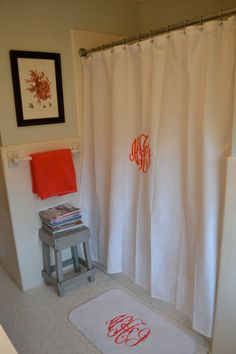 Custom Monogrammed Shower Curtain by lilandgaines on Etsy