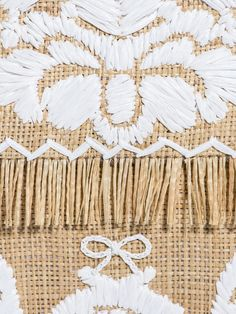 embroidered   raffia