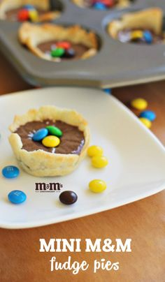 The combination of gooey chocolate, flaky, golden-brown crust, and colorful M&M's make these Mini M&M Fudge Pies the perfect easy dessert idea for your next special occasion. Whether you're looking for a sweet after-school treat or a kid-friendly recipe for your next celebration, each bite will be a hit! Find everything you need to make your own homemade creation at your local Kroger.