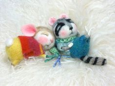 Dressed Mouse/Bunny Class Needle Felted Animal Class / door barby303