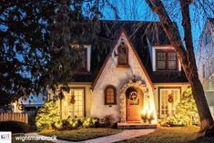 """@theamericanhome on Instagram: """"Thanks to @wightmanbrock for their photo of this cute, cozy home in Rochester, Minnesota. Just perfect for Christmas. I can't believe it's…"""" Cottage Style Homes, Cozy House, Cottages, Craftsman, Small Spaces, Rochester Minnesota, Exterior, Cabin, Bungalows"""
