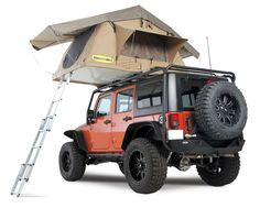 Smittybilt is stepping up to the plate with their first offering into the roof top tent market. The Smittybilt Overlander RTT is constructed of durable, waterproof 600D rip stop polyester and features
