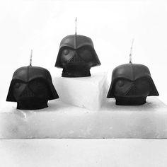 Power squad ⚡️Darth Vader mini head candle set wickandwax.com