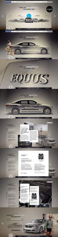 Hyundai Equus by Erik Jonsson - love how this feels like a magazine and not a typical car site #webdesign