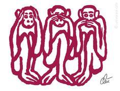 die 491 besten bilder von drei affen monkey monkeys und. Black Bedroom Furniture Sets. Home Design Ideas