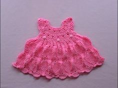 Crochet baby dress/tutorial/pinky pie crochet baby dress part 2 - YouTube