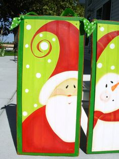cute santa door hanging