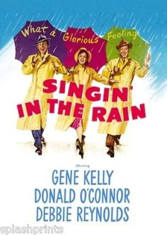 Singin' in the Rain (1952)  A silent-film star (Gene Kelly) loves a chorus girl (Debbie Reynolds) who dubs his squeaky-voiced co-star in a 1927 Hollywood talkie.
