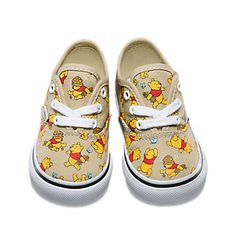 VANS Disney Winnie the Pooh Authentic Toddlers Shoes - Parenting Disney Vans, Disney Shoes, Disney With A Toddler, Baby Disney, Baby Girl Shoes, Boys Shoes, Winnie The Pooh Birthday, Baby Boy Swag, Vans Kids