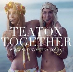 Teatox Together: Motivate each other to achieve your results - write down your goals together, follow our Teatox Eating Plan (do a big grocery shop together and eat similar healthy meals) and encourage each other to stick to and achieve your goals.  Only available at www.skinnymetea.com.au