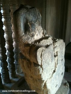 Desecrated Buddha at Angkor Wat Cambodia Travel, Angkor Wat, Buddha, Lion Sculpture, Statue, Beautiful, Sculpture, Sculptures