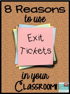 Lots of ideas and free items created to make using exit tickets easy ~ A great opportunity to see if students understand the day' Especially helpful for struggling students. Classroom Tools, Teacher Tools, Teacher Hacks, School Classroom, Future Classroom, Classroom Organization, Classroom Management, Teacher Resources, Classroom Freebies