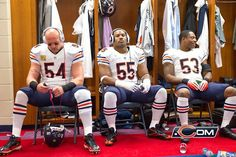 Urlacher and Briggs Nfl Bears, Bears Football, Football Baby, Football Team, Football Pics, Chicago Bears Super Bowl, Chicago Bears News, Chicago Movie, Bear Gallery