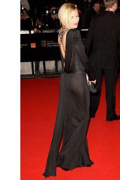 Sienna Miller in Dior at the BAFTAs   - HarpersBAZAAR.com