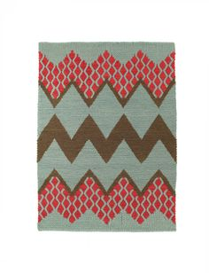 Fairisle rug in Rose Cloud by Donna Wilson & SCP