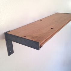 Wall Shelf bathroom Kitchen Shelf Reclaimed Wood & Steel #shelf #bookshelf #wineshelf