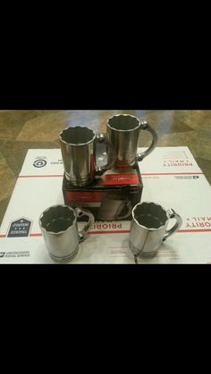 New! Rare! Snapon Flankard Mug Set 4 Aluminum Metal Socket 12 Pt Landistools in Mechanics | eBay